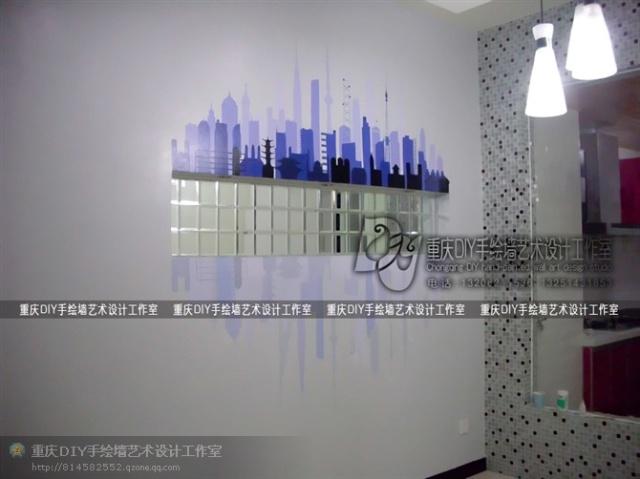 【重庆手绘墙·diy墙绘】近期作品欣赏·【大渡口·锦绣格林】饭厅墙