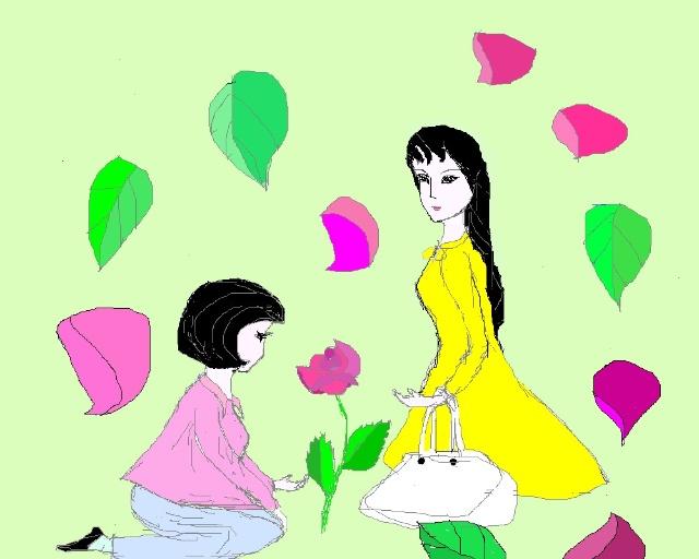 荆棘玫瑰手绘图