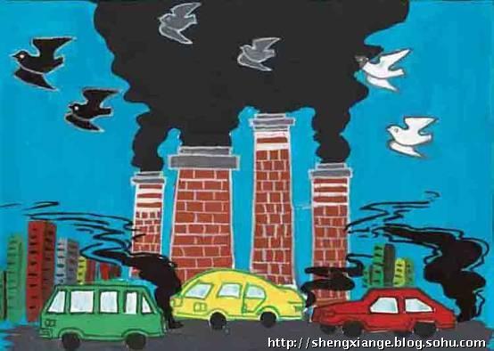 中国儿童环保画之汽车篇