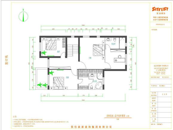 圣辉花园230平米新中式古典联排别墅--二层平面图