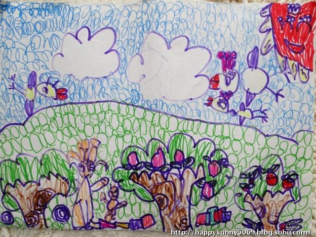 儿童画藏宝图椰子树