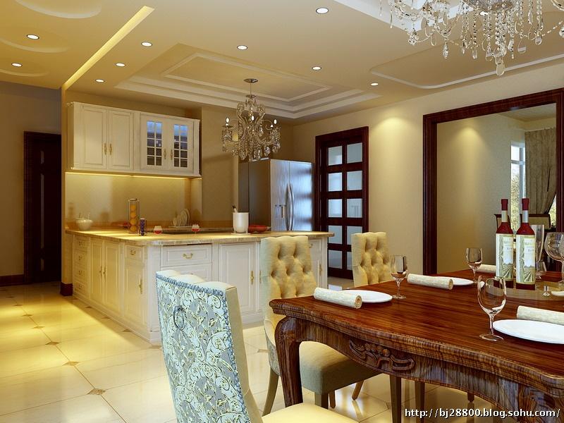 简欧风格客厅过道装修设计效果图   过道现代简欧吊顶 简欧门