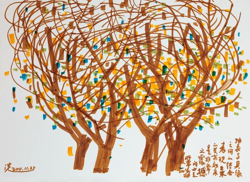 树叶速写图片-树叶速写|风景速写临摹图片高清|人物速写图片素材照片