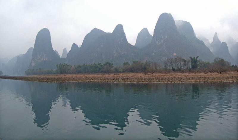 山水风景图案变形设计