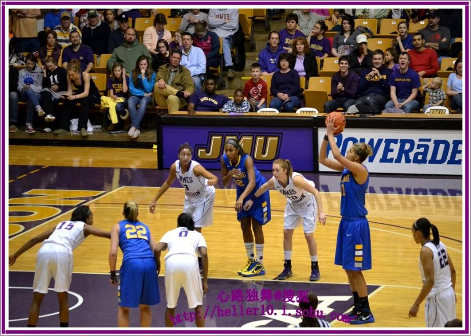 实拍美国大学生篮球赛(ncaa)