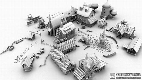 玛雅场景建模素材