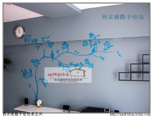 西安手绘--丰禾小区--花香中的鸟语