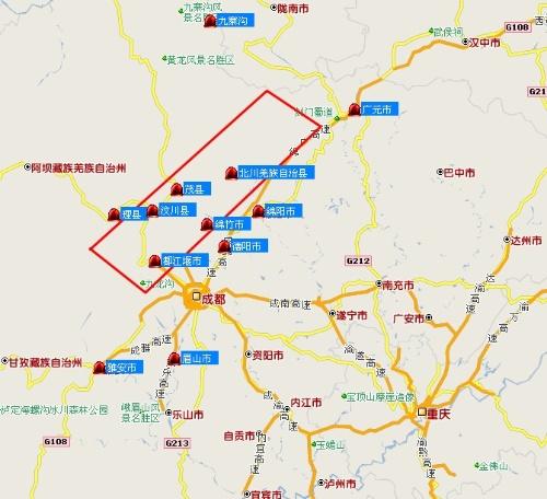 四川城市分布地图 - 川山云的博客 - 我的搜狐