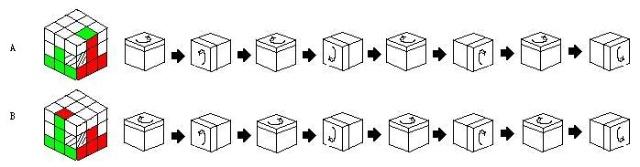 魔方一面公式图解