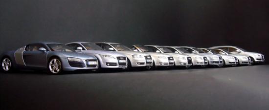 奥迪汽车模型全家福