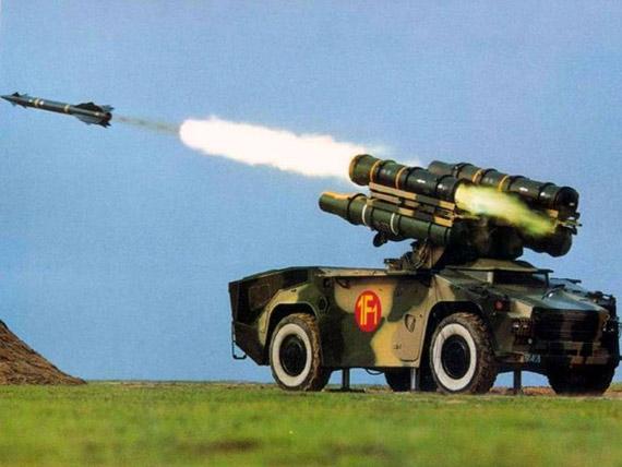 在鸟巢附近布防的是中国国产的红旗7型防空导弹,是中国以法制响尾蛇