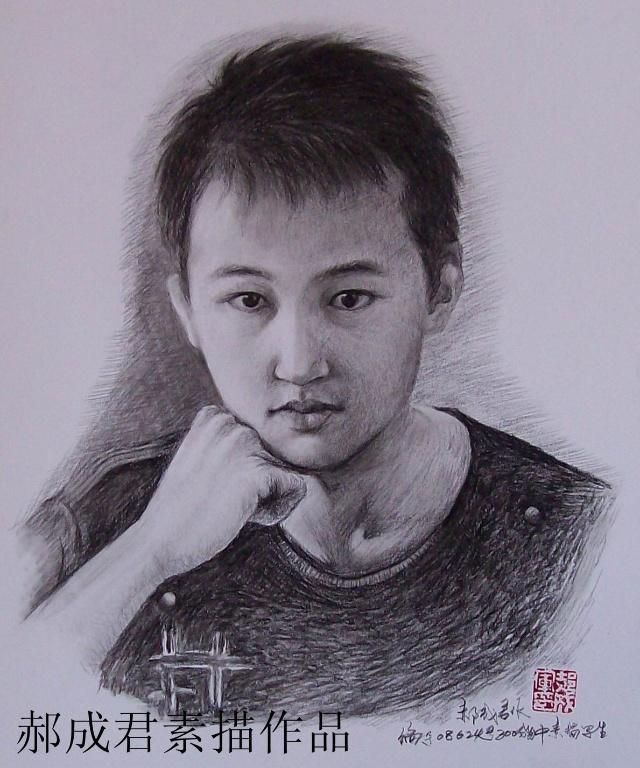 郝成君素描作品选 入木三分出神入画肖像