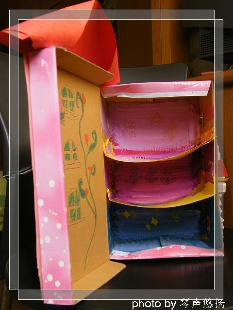 幼儿园鞋盒手工小房子