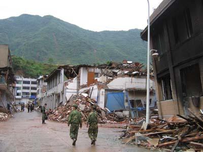 去四川地震灾区平武县南坝镇的部分照片