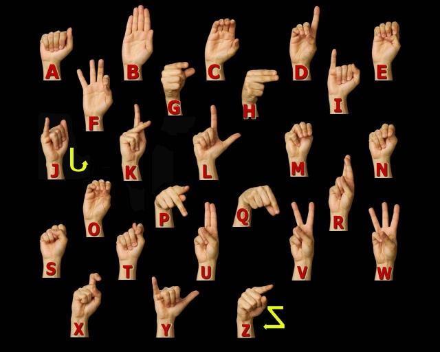 美国手语英文字母手势动作