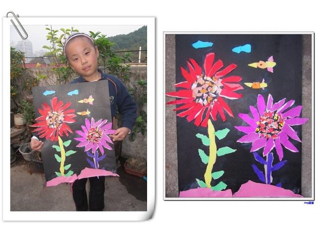 制作简单漂亮/幼儿园最简单手工剪纸/幼儿简单手工小制作/用彩纸做的