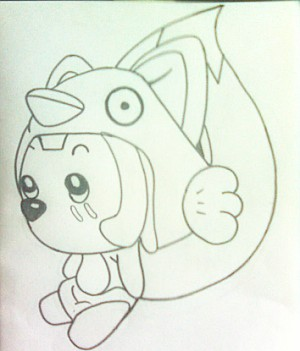 可爱简单阿狸铅笔画图片教程
