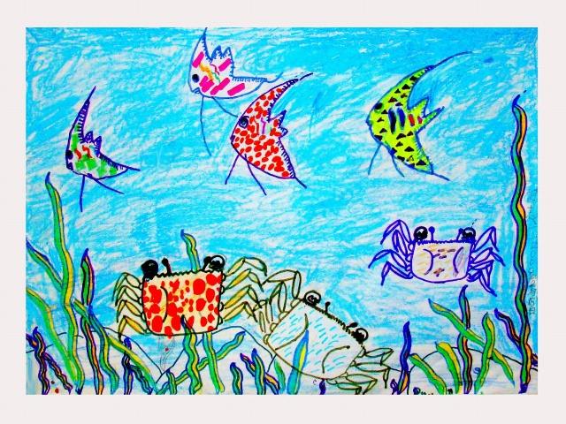 九岁儿童简笔画 春天来了