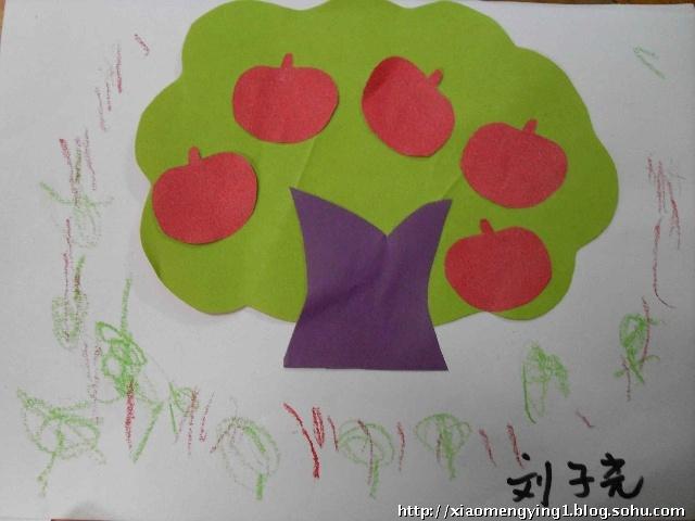儿童画苹果树图片大全-苹果树图片大全 图片,怎样画苹果树图片大全