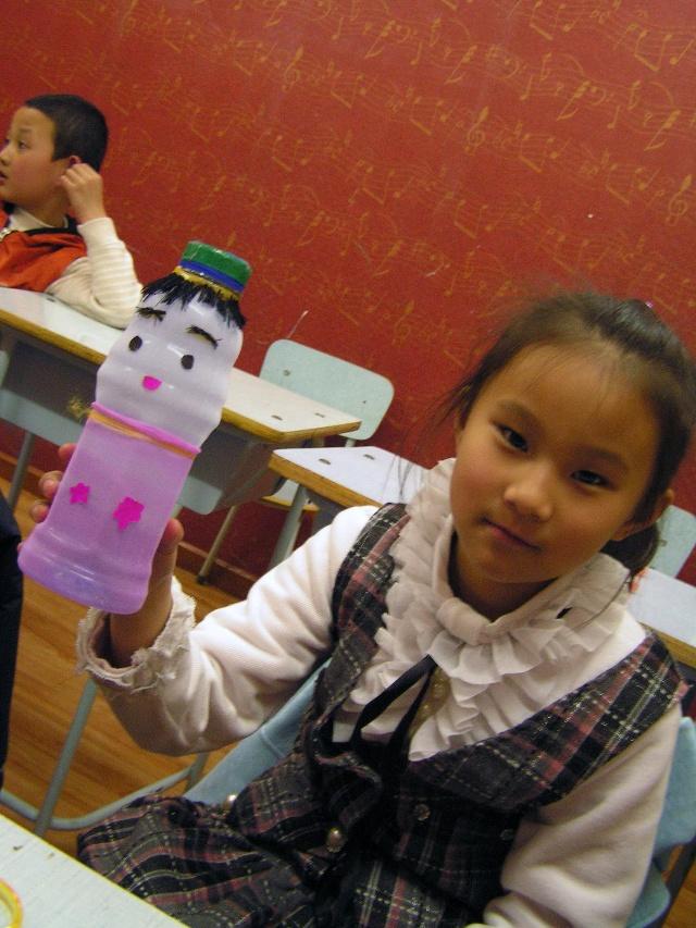 幼儿园塑料瓶子手工