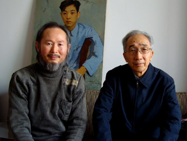李壮平与中国美术家协会主席靳尚谊合影