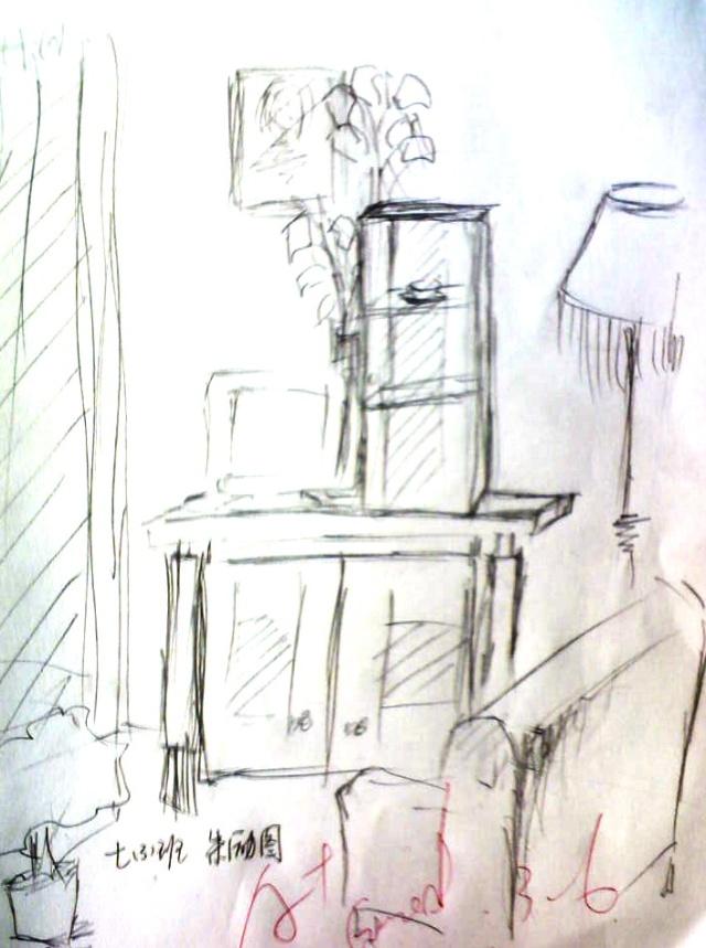 琥珀中学七年级《美术》下册《手绘线条图像的表达》图片