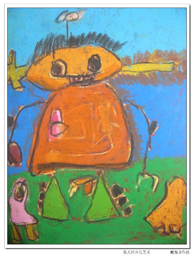 儿童创意砂纸画