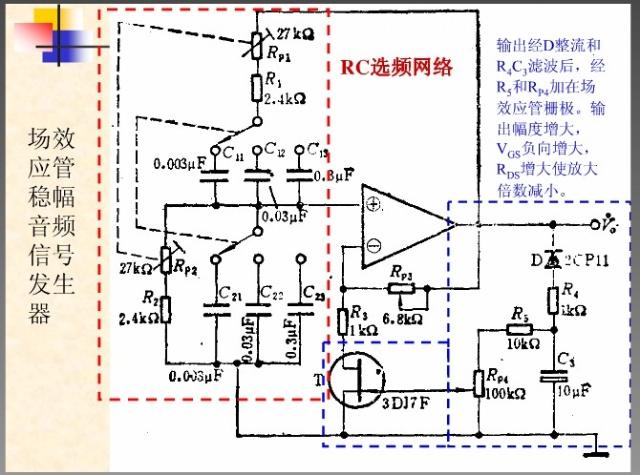 场效应管稳幅信号发生电路