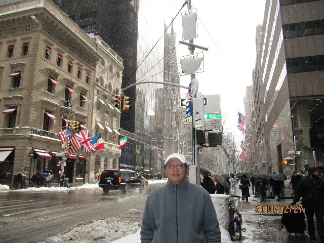 欧式建筑街道雪景