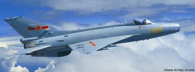 歼7iik缅甸空军的歼七的外观特征与歼7iih飞机一样