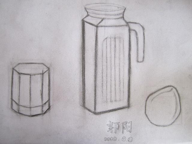 7.22玻璃水杯的结构素描