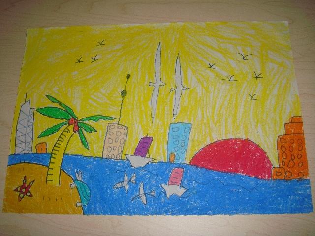 风景-动物-人物,三个学期的简笔画学习