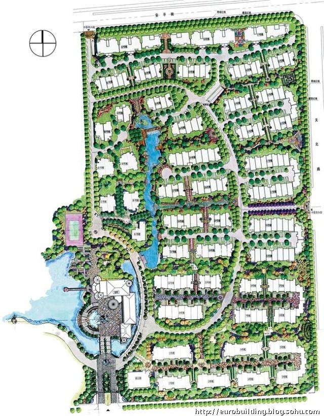 别墅 房型图 规划总平面 效果图 实例 2009中国室内设计明星
