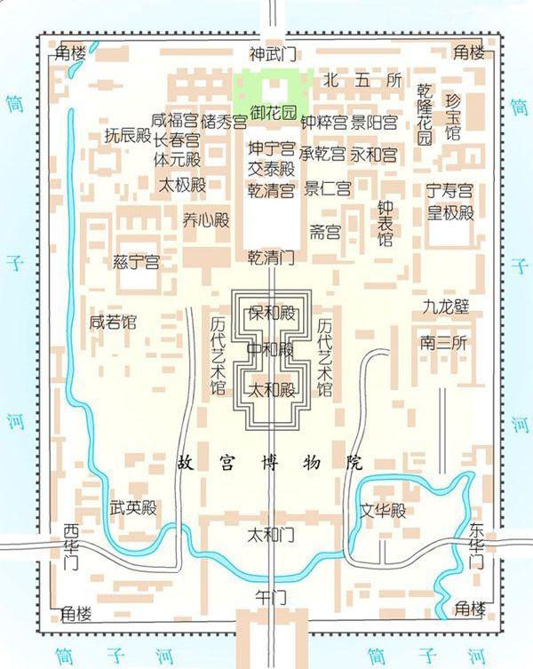 故宫手绘平面图怎么画