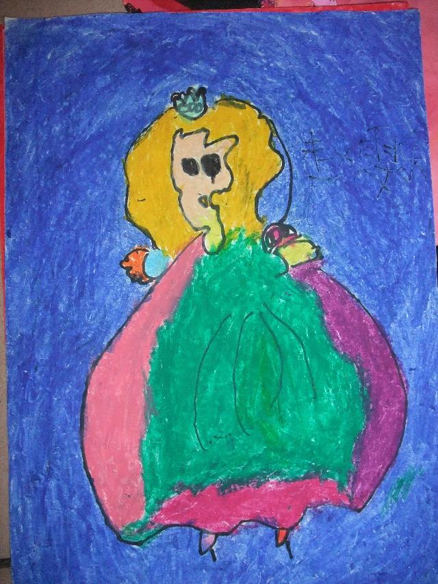 小公主人魚簡筆畫內容圖片展示