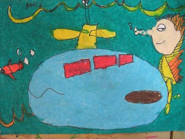 潜水艇简笔画图片大全