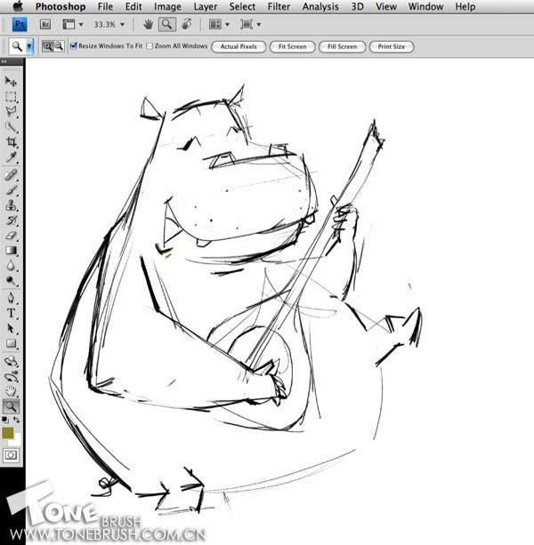 河马的绘画步骤 - 儿童插画教程