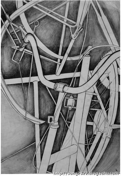 结构素描自行车