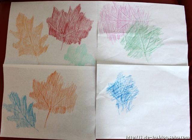 枫叶彩铅手绘
