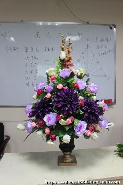 插花步骤--三角花型-多彩国际花艺学院-我的搜狐