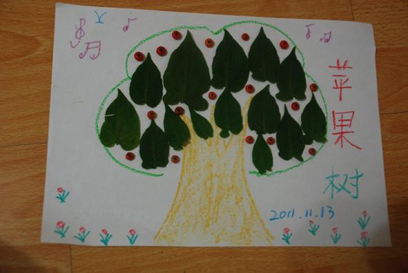 我们的树叶拼图