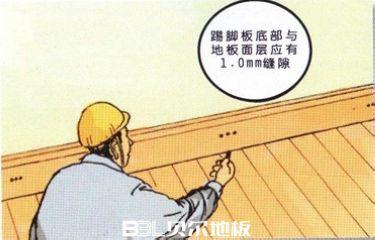 【贝尔地板 实木地板铺装教程12】实木地板踢脚板