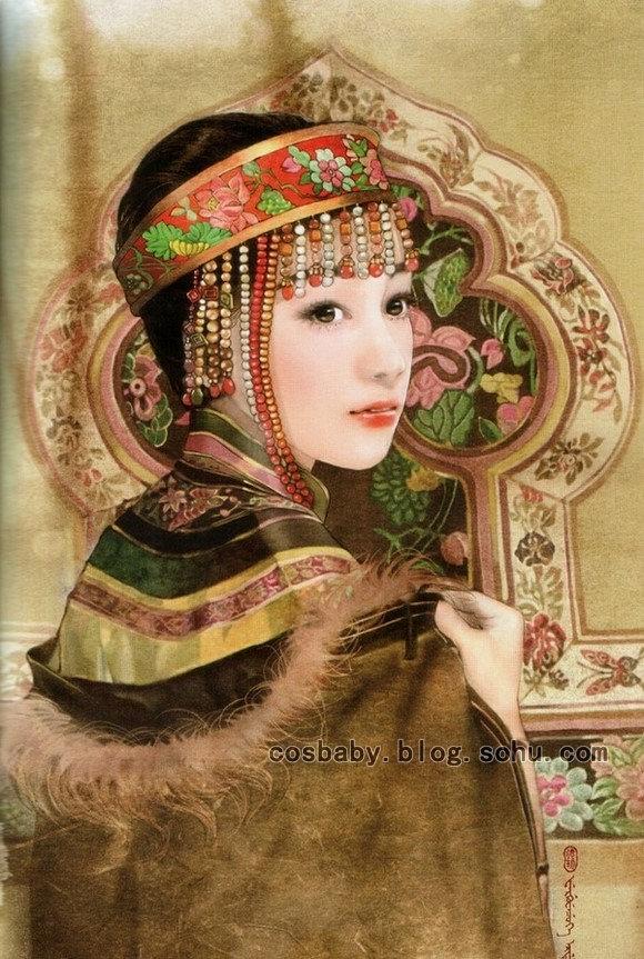 五十六朵花 玩家手绘中国各少数民族美眉合集 1