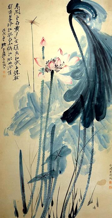 中国绘画艺术变形,由早期的减笔画,禅画如梁楷的泼墨山人,贯休的罗汉