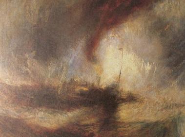 《暴风雪中的汽船》作为一件风景油画