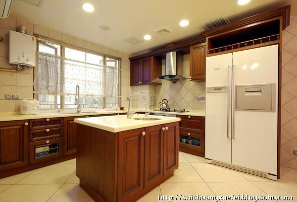 昌平九台庄园220平米欧式风格别墅--厨房全景照