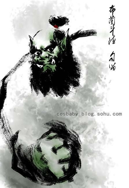 【插画】浓浓中国风!魔兽世界水墨画