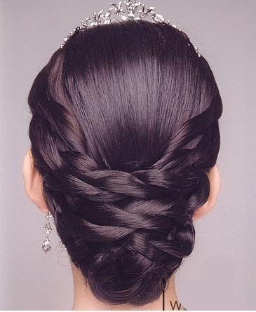 教你韩式新娘发型