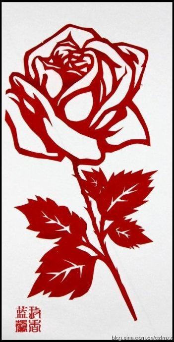 简单的剪纸玫瑰花