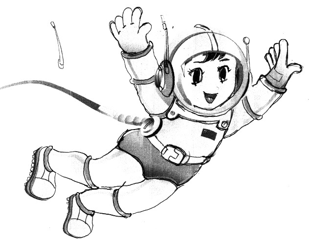 吉祥物卡通宇航员(卡通航天员)设计